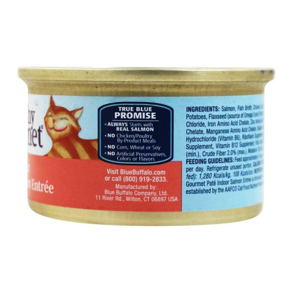 Blue Buffalo - Healthy Gourmet Canned Cat Food Pate Indoor Salmon Entree 3 Oz