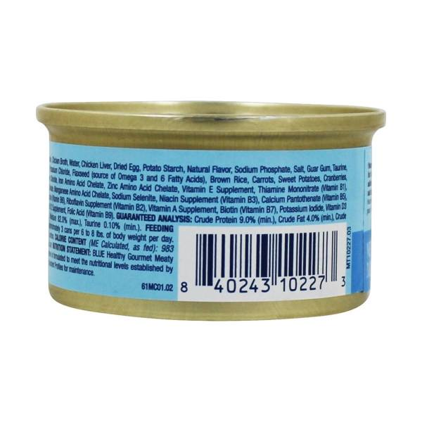Blue Buffalo - Healthy Gourmet Canned Cat Food Meaty Morsels Chicken Entree 3 Oz