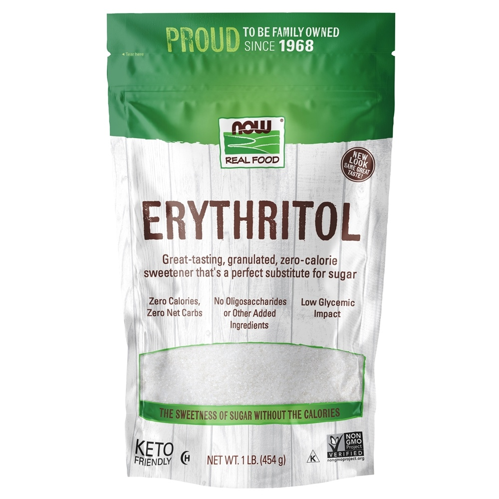 Buy NOW Foods - Erythritol Natural Sweetener - 1 lb. at LuckyVitamin.com