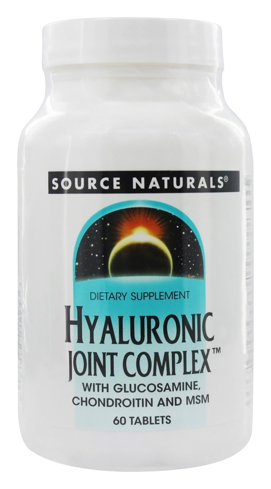 Buy Source Naturals - Hyaluronic Joint Complex With Glucosamine, Chondroitin, and MSM - 60 Tablets at LuckyVitamin.com