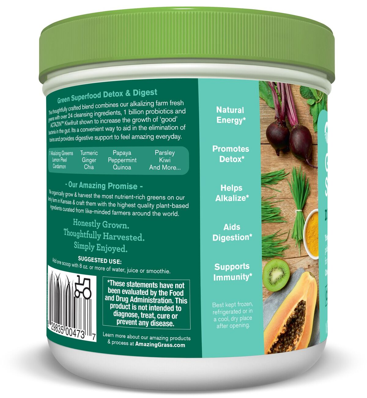 Buy Amazing Grass - Green Superfood Detox & Digest - 7.4 ...