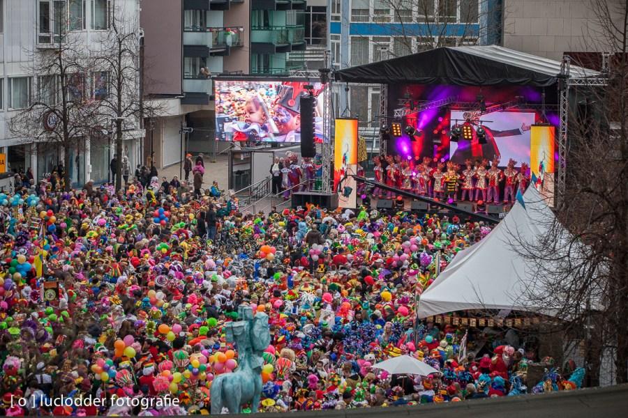 Tijdens het Klone Konkoer 2014 in Kerkrade stond de markt weer goed vol.