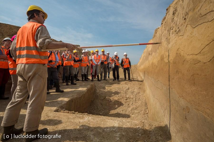 Archeologen onderzochten de grond onder de buitenring.