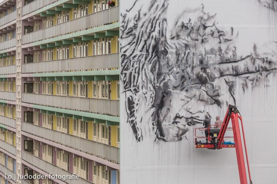 Er werden grootse muurschilderingen gemaakt in Heerlen. (Cultura Nova)