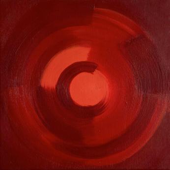 """""""Visceral"""". 2021. Acrylic on canvas. 30 x 30 cm."""