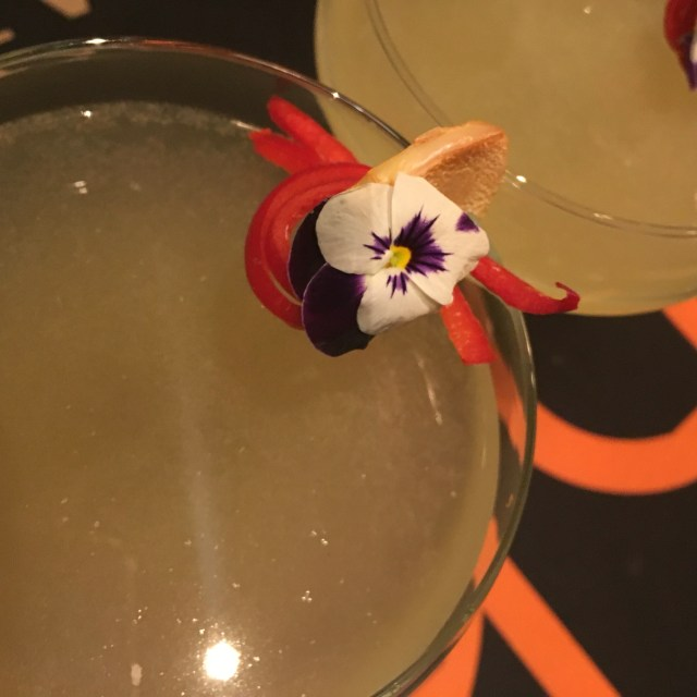 cocktail with a flower
