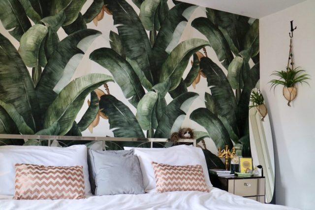 Botany Banaan Leaf Wallpaper