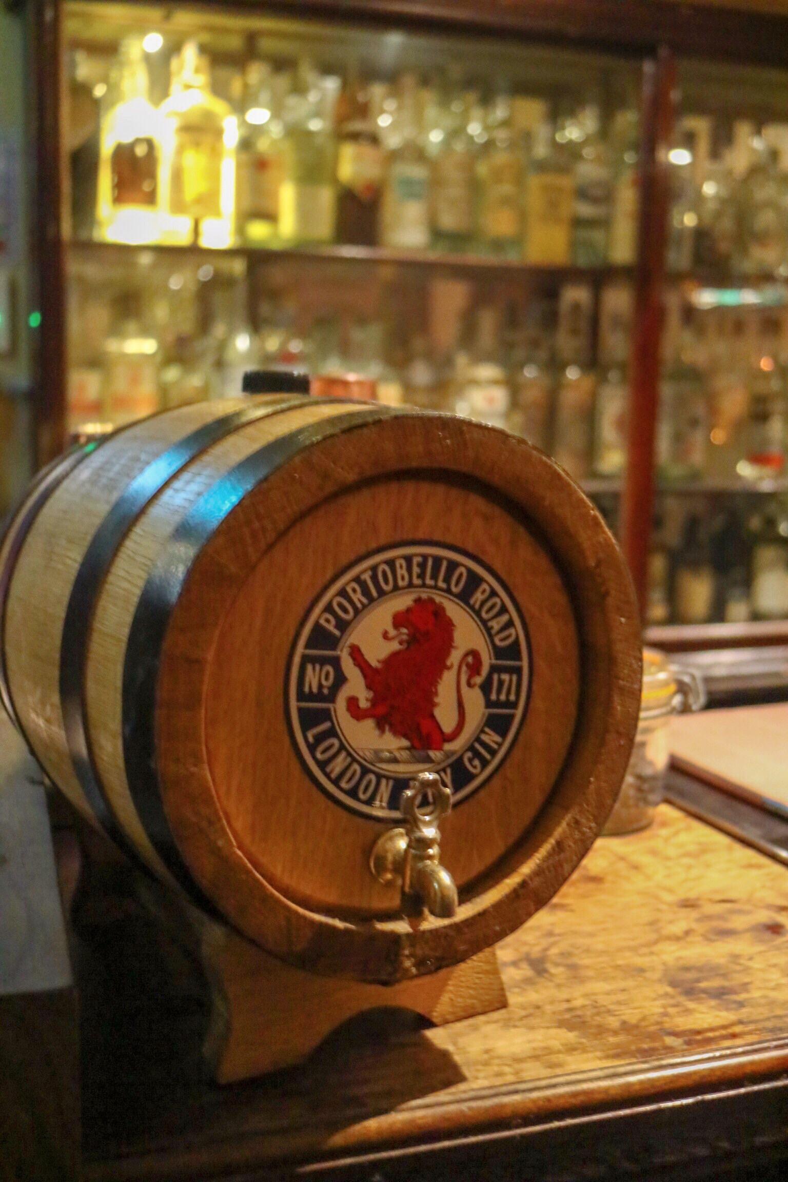 old gin barrel