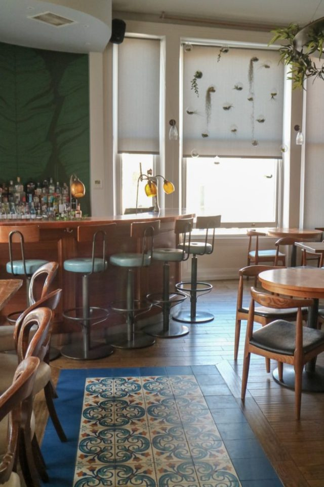interior of gin tonica restaurant and bar