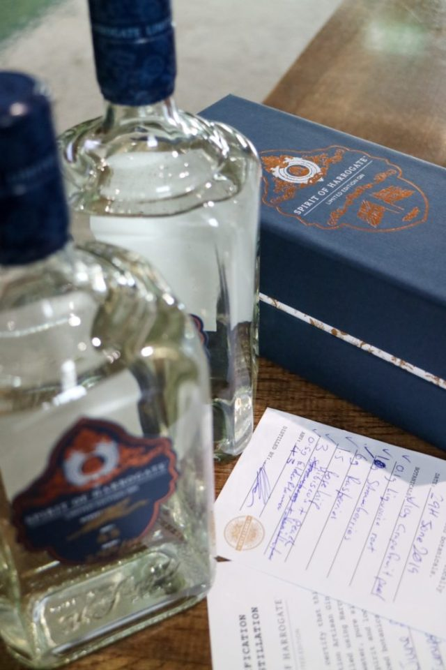 bottle of and box containing the slingsby gin i made