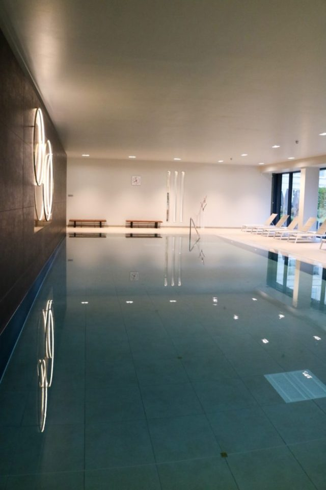 interior pool at rudding park spa