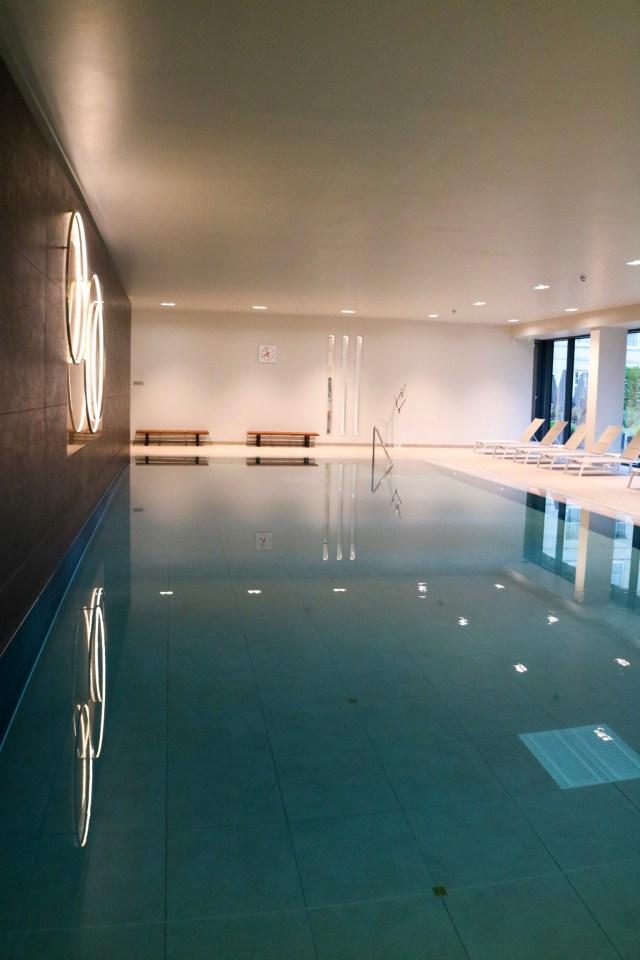 interior pool at rudding park spa