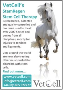 VetCell advert for Horse & Hound's veterinary special edition