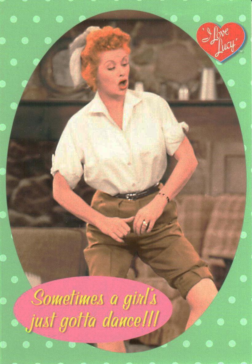 I Love Lucy Jig Dance Postcard