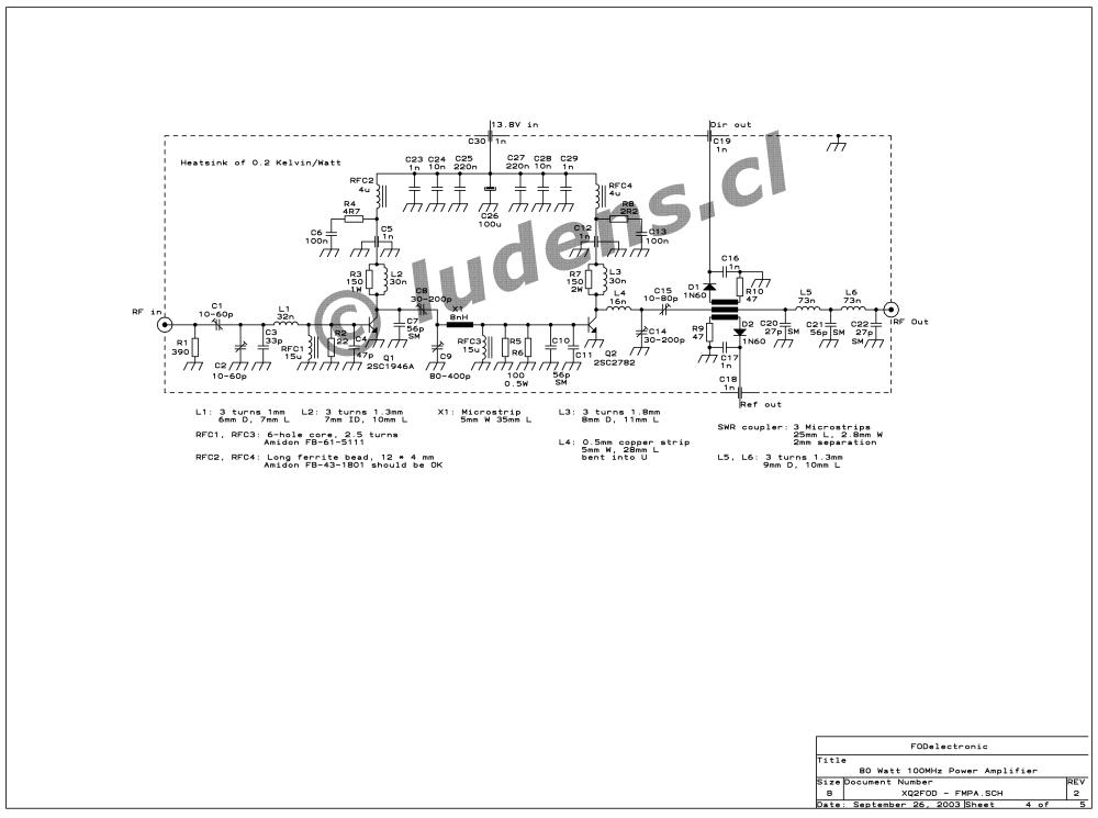 medium resolution of the 80 watt power amplifier