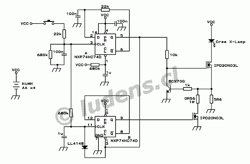 Circuit Diagram Of A Torch Light ~ DIAGRAM