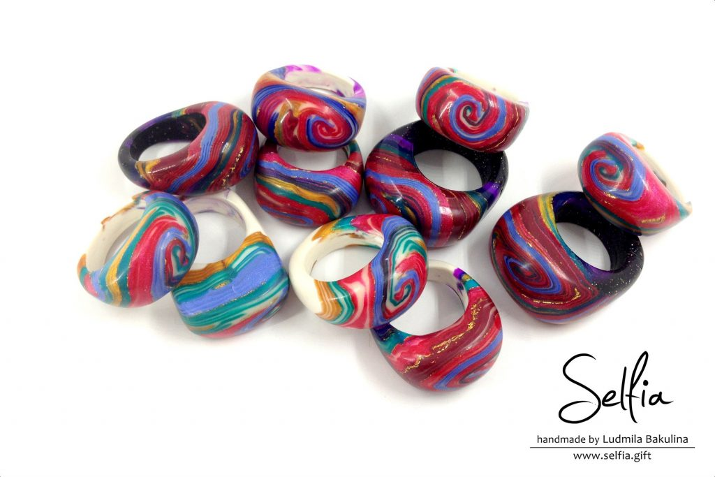 Bright whole ring from polymer clay - photo tutorial 1