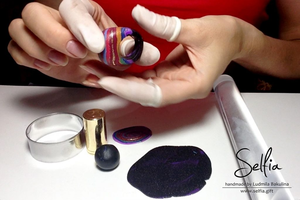 Bright whole ring from polymer clay - photo tutorial 2