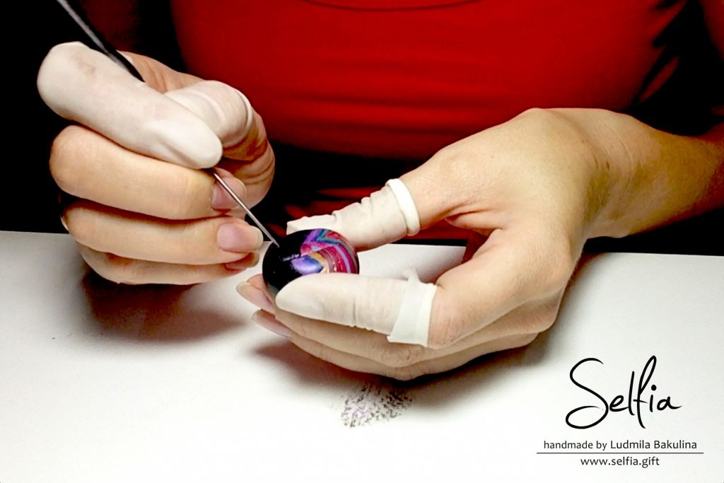 Bright whole ring from polymer clay - photo tutorial 10