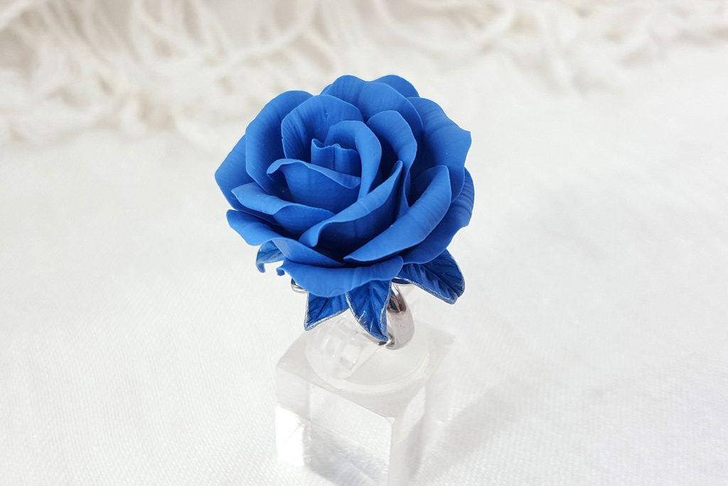 Realistic Rose from Polymer Clay 29