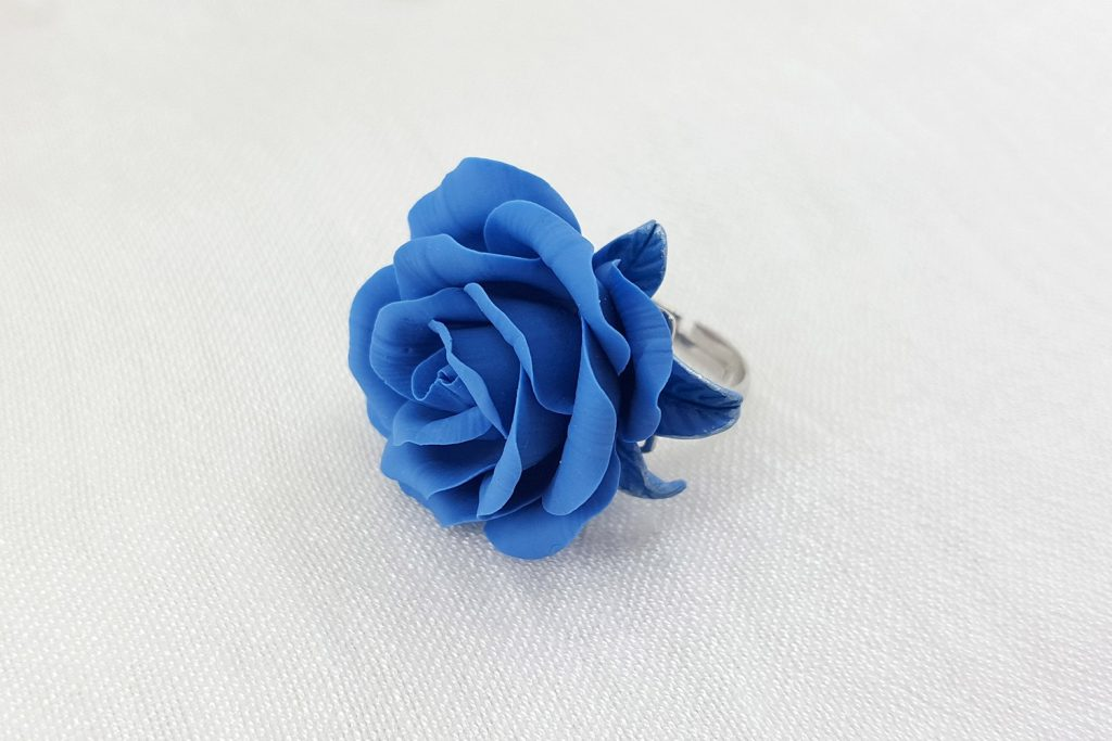 Realistic Rose from Polymer Clay 30