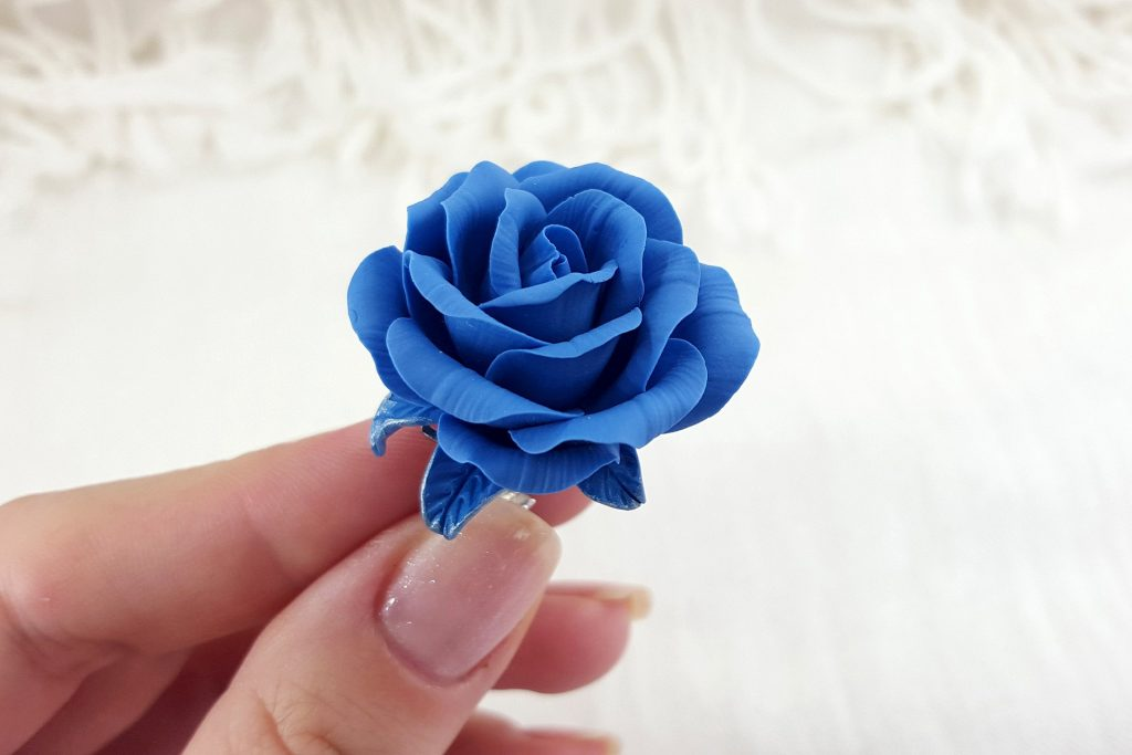 Realistic Rose from Polymer Clay 34
