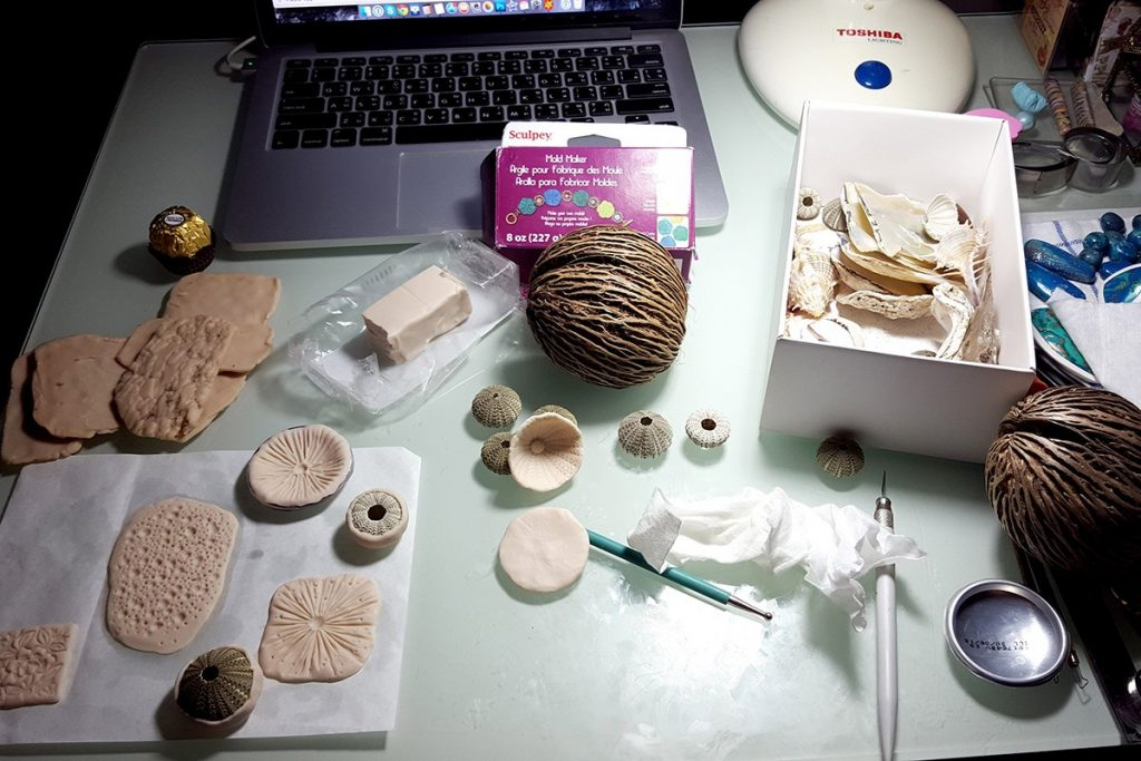 How to make different textured sheets using Mould Makers Sculpey and natural things 2
