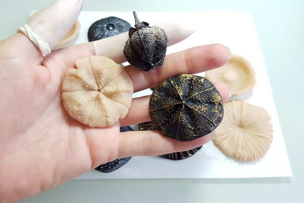 How to make different textured sheets using Mould Makers Sculpey and natural things 10