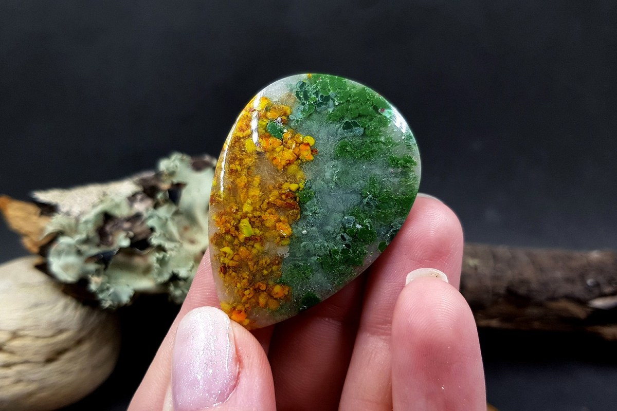 Faux Moss Agate Gemstone Cabochons 9
