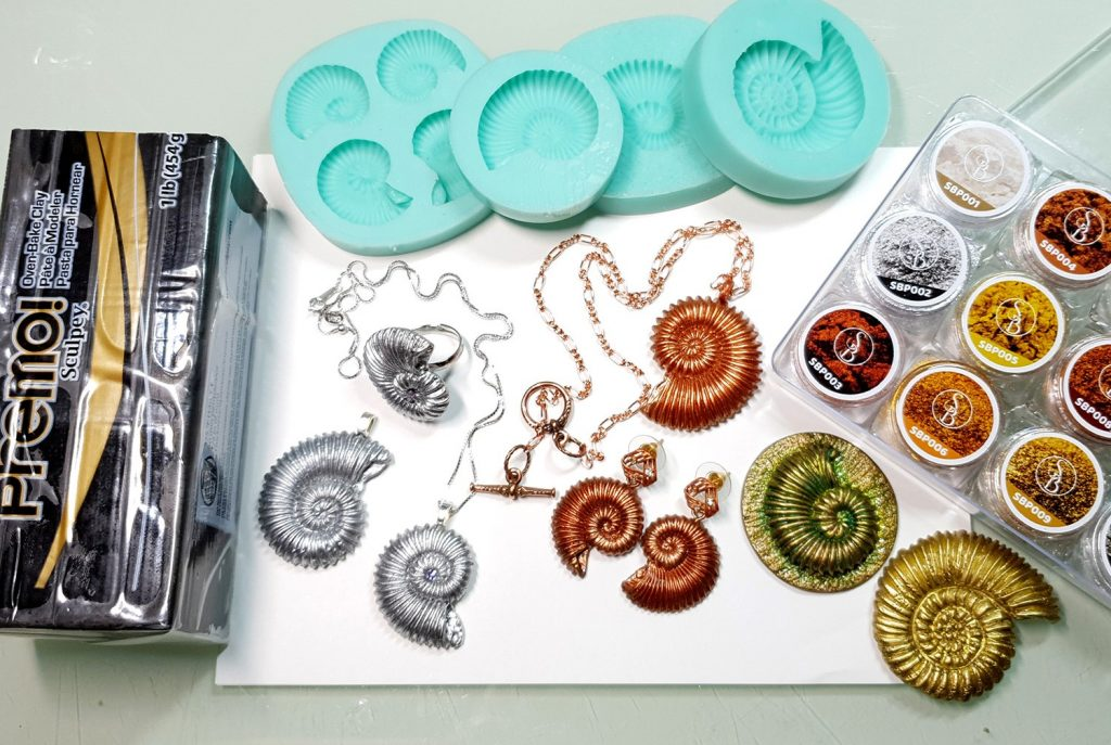 Product review: Molds&Powders Review. Jewelry with ammonites 9