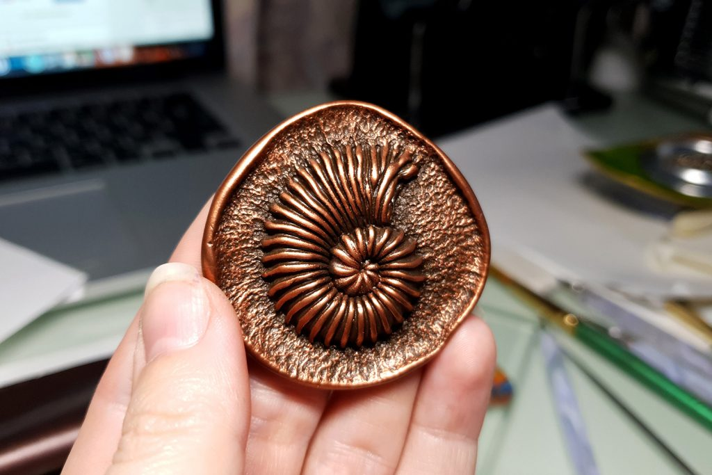 Product review: Molds&Powders Review. Jewelry with ammonites 1