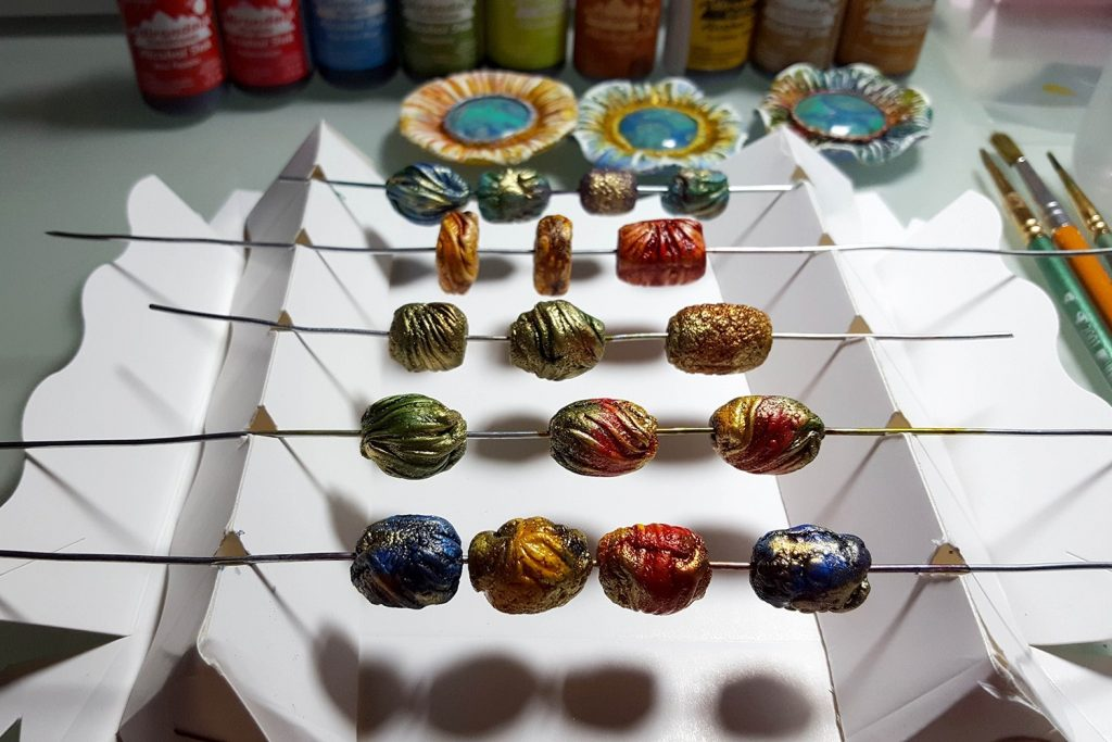 Aged Beads process. On my table today 8