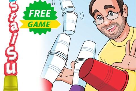 StaiSu un gioco gratis con bicchieri di plastica e dadi
