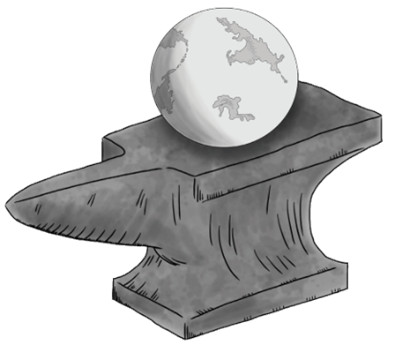 Anvil with Earth on top