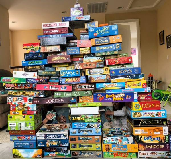 Large pile of board games