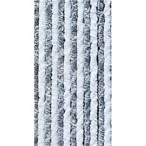 RIDEAU CHENILLE ANTI INSECTES GrisBlanc 56x205 Cm