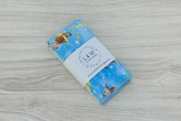 Limited Edition Cute Monkeys Blue Bundle of Wipes (3 ea. 2-Ply, Monkeys,Light Blue) 1