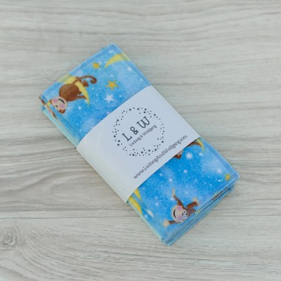 Limited Edition Cute Monkeys Flannel Wipes