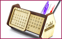 Wooden Desk Calendar Organizer Model (E)