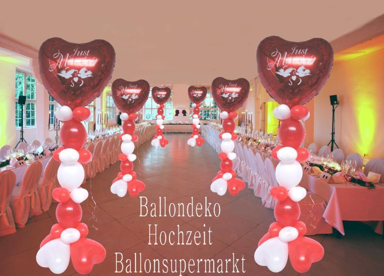 Ballondeko Hochzeit mit Luftballons
