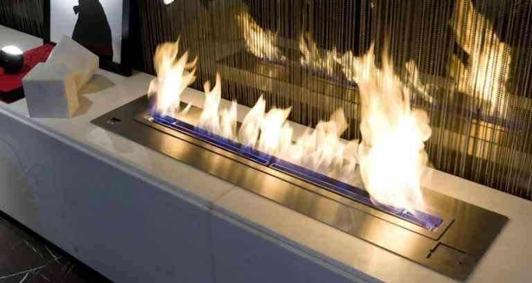 Elektrokamin brennt