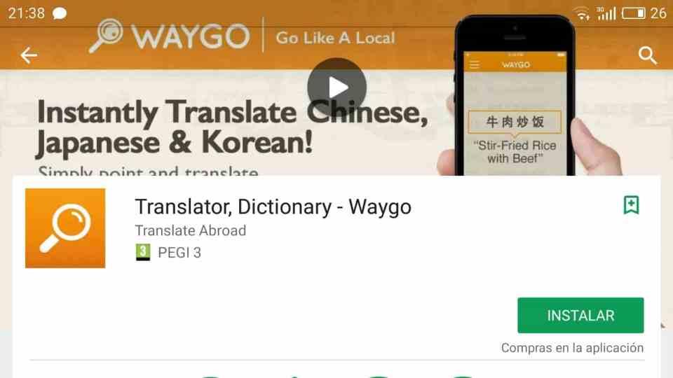 waygo, aplicaciones de traducción para Asia