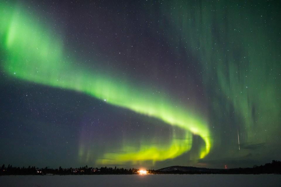 Aurora boreal Ivalo Finlandia