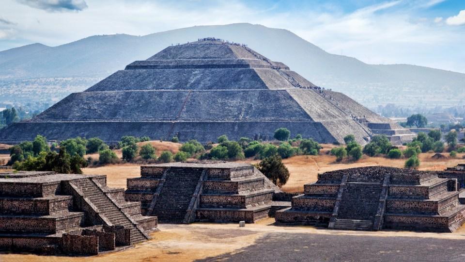 pirámides de las ruinas arqueológicas de Teotihuacan
