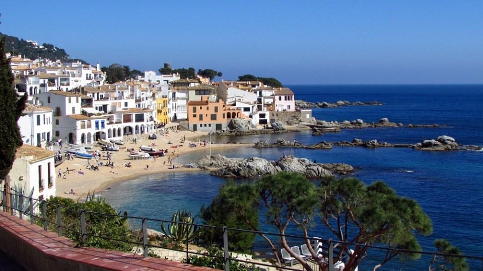 Calella de Palafrugell, costa de Cataluña