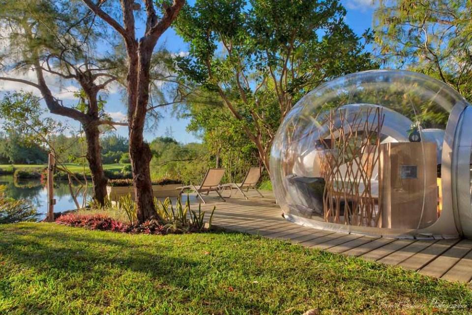 Hoteles burbuja rodeados de naturaleza