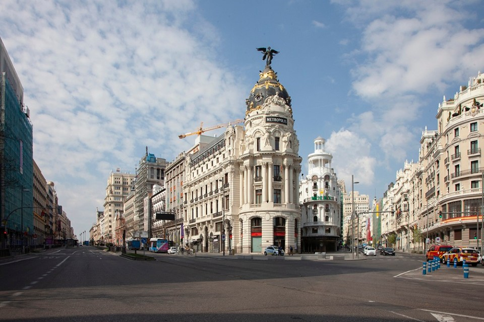 Fotografía de Madrid durante el confinamiento