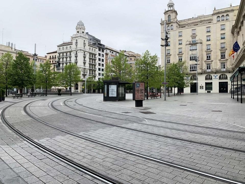 Zaragoza, una de las principales ciudades de España en confinamiento