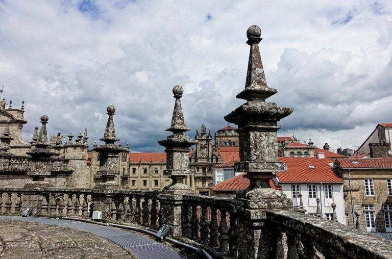 Vista desde la azotea de la catedral de Santiago de Compostela