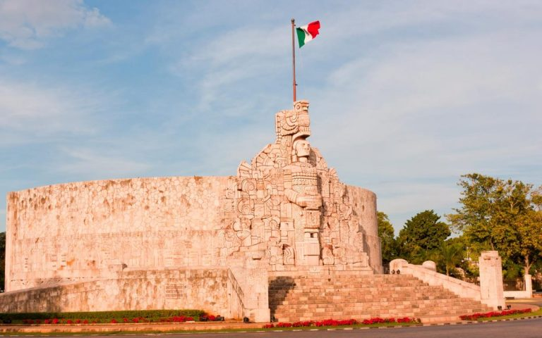 El monumento a la patria, uno de los más bonitos de Mérida Yucatán